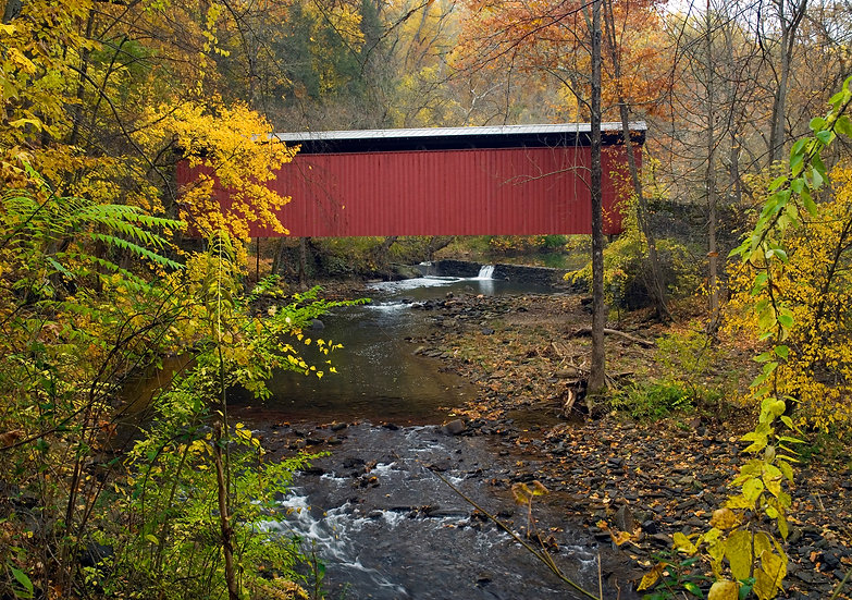 THOMAS MILL COVERED BRIDGE IN AUTUMN PHILA., PA #2 img#100484
