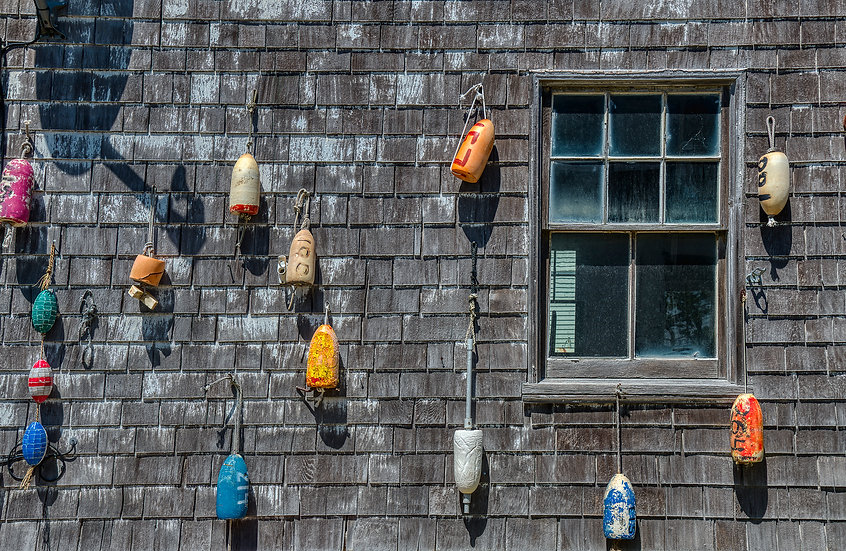 BUOYS BY THE BOAT HOUSE WINDOW img#100912