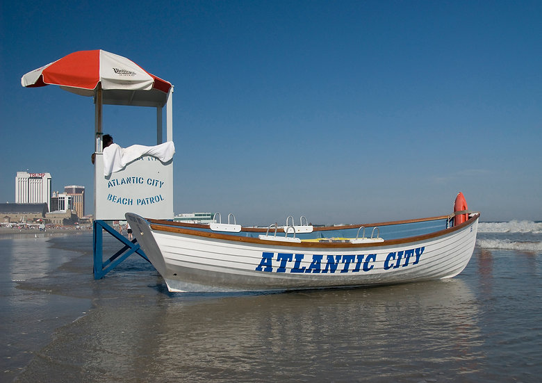 Lifeguard Stand and Boat, Atlantic City, NJ