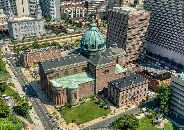 THE BASCILICA OF SAINTS PETER AND PAUL FROM ABOVE. IMG.#100926