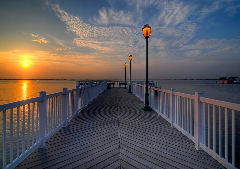 SUNSET ON THE BAY IN MARGATE CITY, NJ