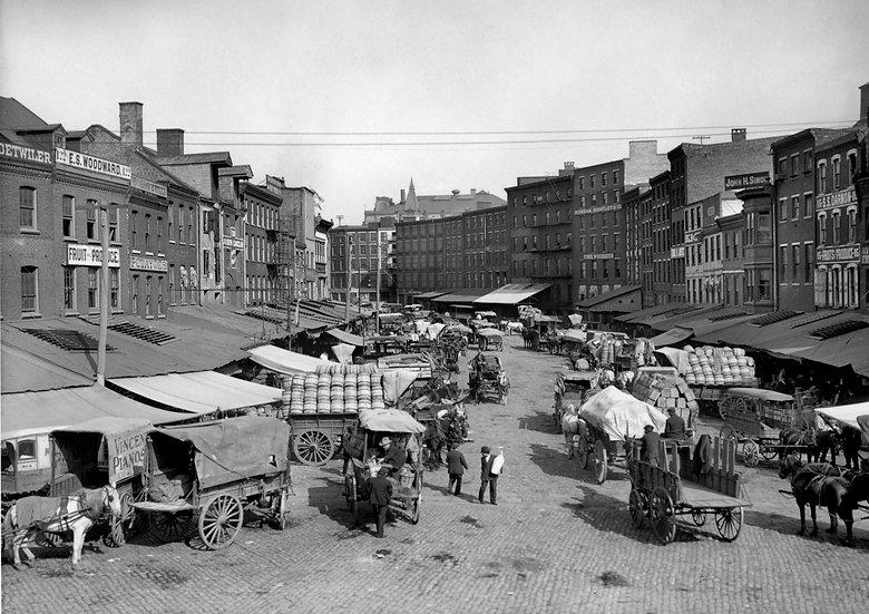 DOCK STREET MARKET PHILADELPHIA 1908 img#100755