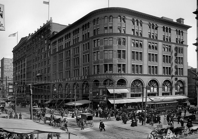 THE GIMBEL BROTHERS STORE AT 9TH AND MARKET  STS. PHILADELPHIA 1905  img#100748