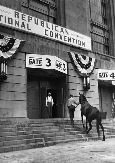FIRST DARK HORSE ENTERS POLITICAL ARENA AT PHILADELPHIA, PA JUNE 21, 1948