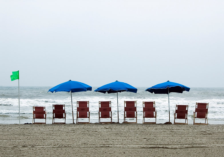 Beach Chairs and Umbrellas, Ocean City, NJ