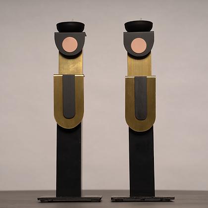 זוג פמוטים שחור/זהב/ורוד שחור מקדימה