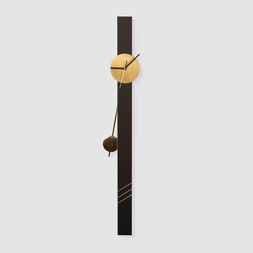 שעון מטוטלת גרפיט/פליז