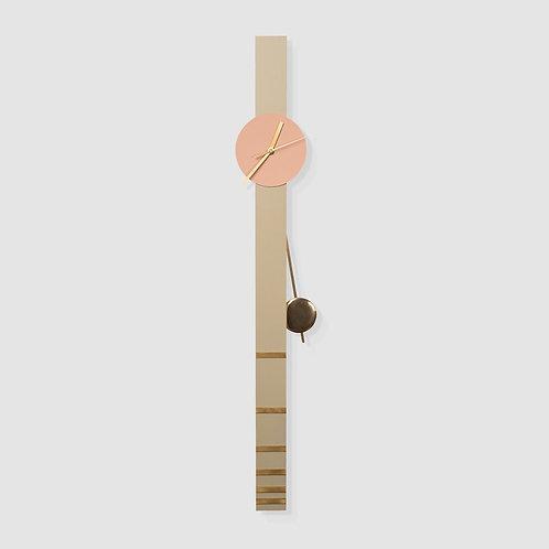 שעון מטוטלת ירקרק/ורוד