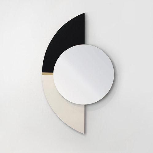 מראה חצי עיגול שחור לבן