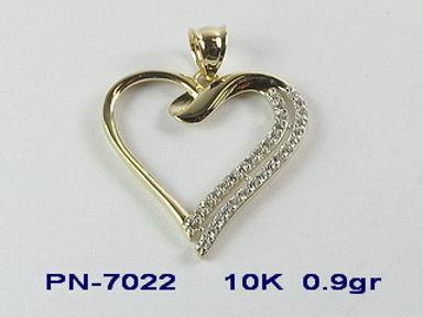 10K Heart Pendants