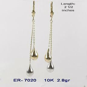 10K Dangle Earrings