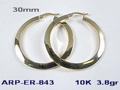 10K Polished Hoop Earrings Assorted