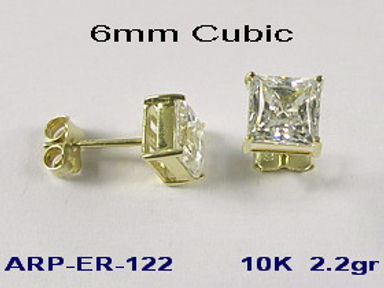 10K Cubic Stud Earrings