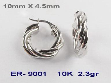10K Twisted Hoop Earrings