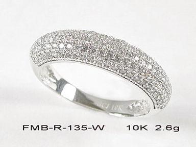 10K White Gold Rings
