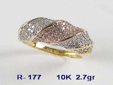 10K Tri Coloured Rings