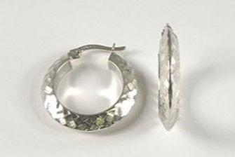10K Fancy Hoop Earrings