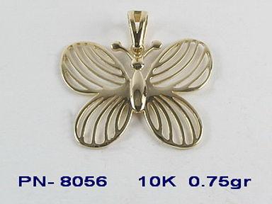 10K Butterflies and Key Pendants
