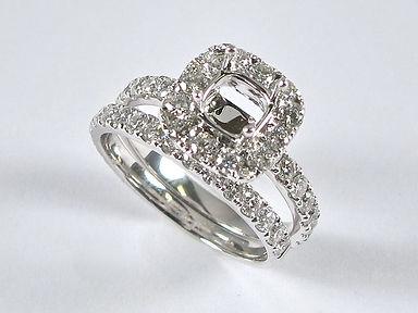 Halo Semi Set Diamond Engagement Rings