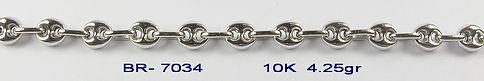 10K White Bracelets