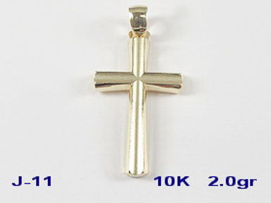 10K Cross Pendant