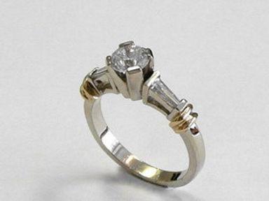 White Gold Diamond Engagemen Rings
