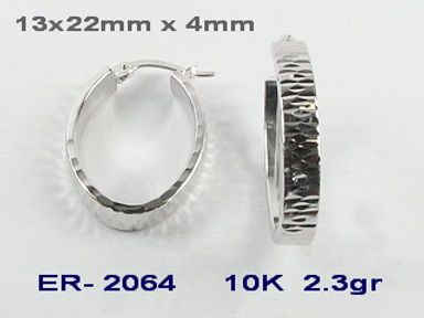 10K Diamond Cut Hoop Earrings