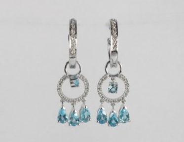 Diamond and Coloured Stone Earrings