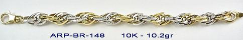 10K 2 Tone Bracelets
