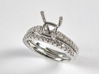 Semi Set Engagement Rings