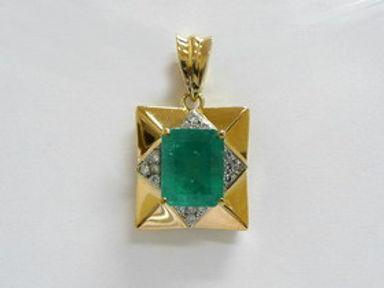 Diamond and Emerald Pendants