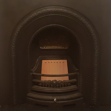 Carron cast fire insert.