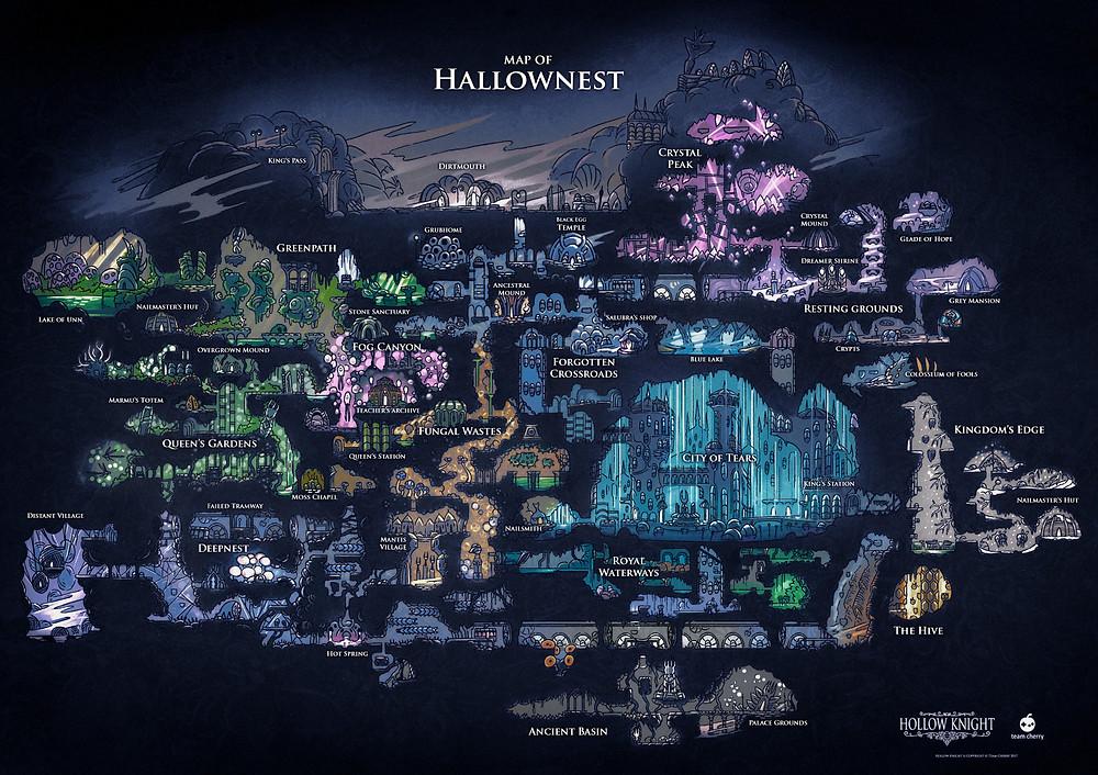 Hallownest Map Hollow Knight