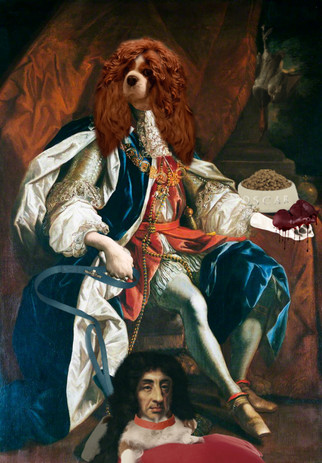 King Oscar and his spaniel Charles.jpg