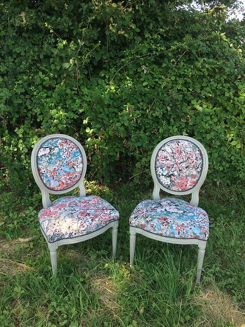 Paire de chaise Louis VXI