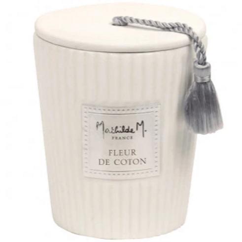 Bougie parfumée fleur de coton 260g
