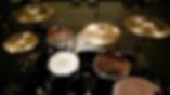 Landon Hall drum set up