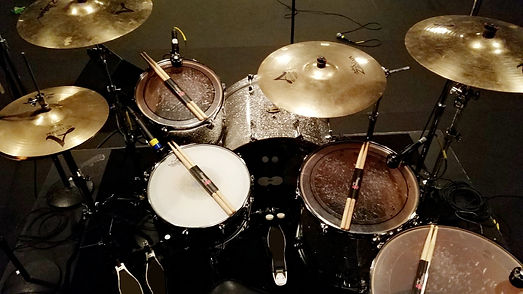 Landon Hall drum setup.jpg