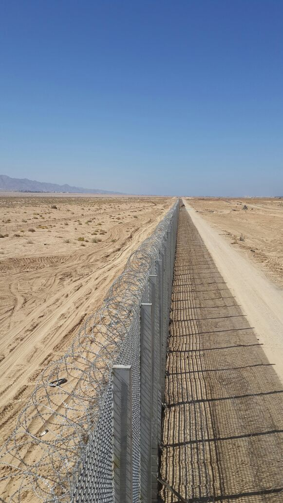 Jordan's security fence.