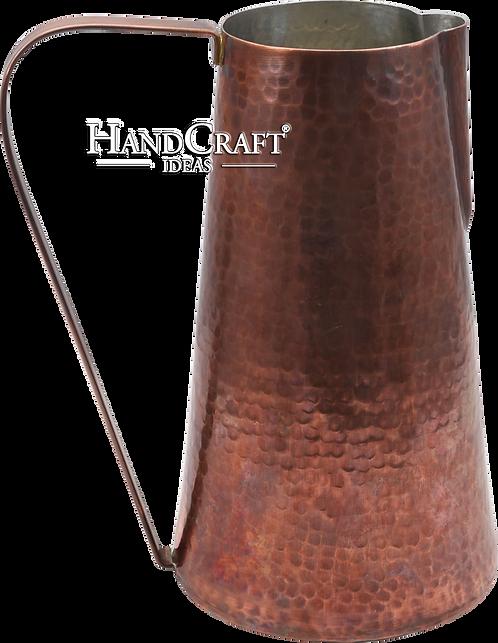 Handmade Antique Copper Pitcher, Copper Jug 47fl.Oz (1400ml)