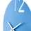 Thumbnail: Minimal Design Wall Clock Plain -Blue