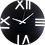 Thumbnail: Minimal Design Wall Clock Rome - Black