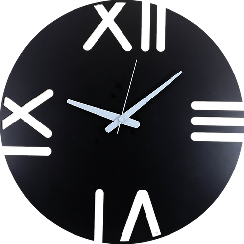 Minimal Design Wall Clock Rome - Black