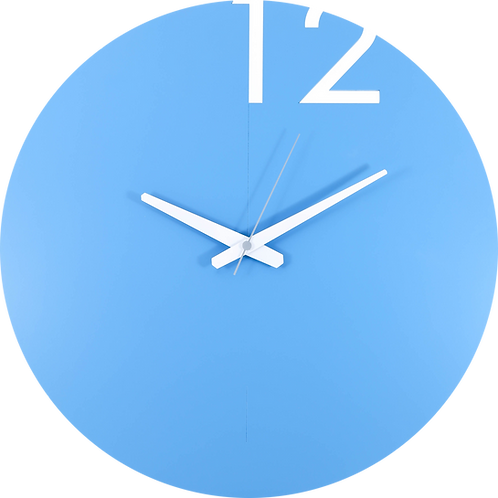 Minimal Design Wall Clock Plain -Blue