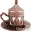 Thumbnail: Traditional Design Cast Zamak Turkish Coffee, Espresso Cup with Saucer