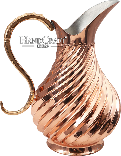 Handmade Engraved Copper Moscow Mule Pitcher 56fl.Oz (1650ml)