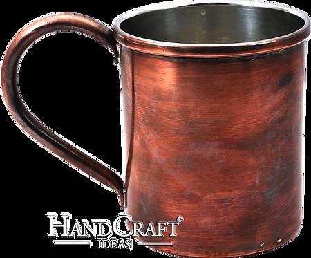 Handmade Antique Copper Mug - 15 fl.Oz (450ml)