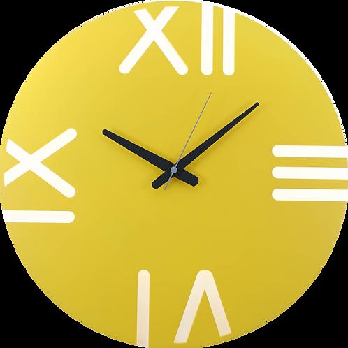 Minimal Design Wall Clock Rome -Yellow