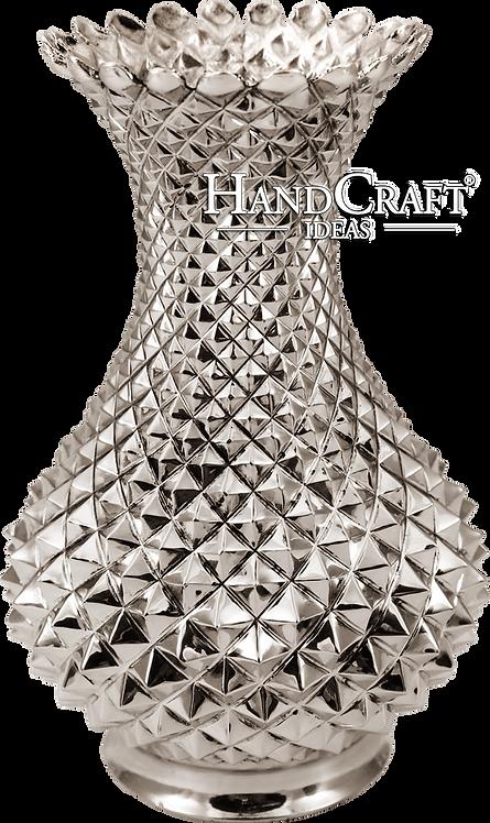 Solid Heavy Gauge Handmade, Engraved Copper Vase -Large (25cm)