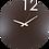Thumbnail: Minimal Design Wall Clock Plain -Brown